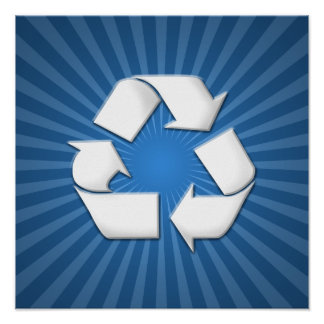 Blue Recycle Poster 001