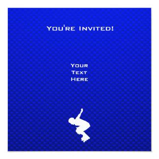 Blue Rollerblading 13 Cm X 13 Cm Square Invitation Card