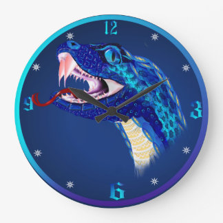 Blue Snake Head Wall Clocks