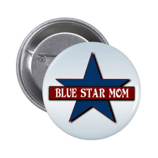 Blue Star Mom Military Support 6 Cm Round Badge