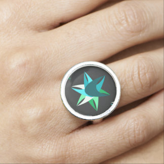 Blue Star Ring