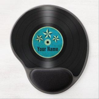 Blue Stars Personalized Vinyl Record Album Gel Mouse Pad