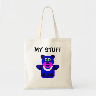 Blue Teddy Bear Budget Tote Bag