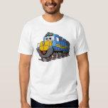 Blue Train Engine Cartoon T-shirts
