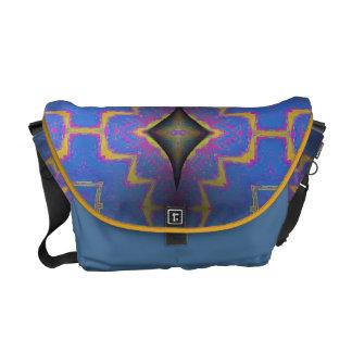 Blue velvet black diamond courier bags