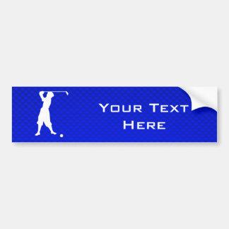 Blue Vintage Golfer Bumper Sticker