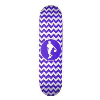 Blue Violet Chevron; Basketball Skate Board Deck