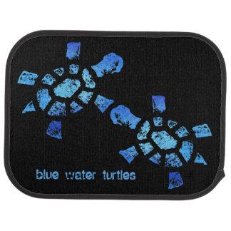 Blue Water Turtles Floor Mat