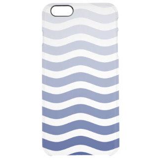 Blue Wave Ombre Clear iPhone 6 Plus Case