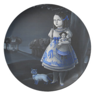 Blue Willow Party Plate