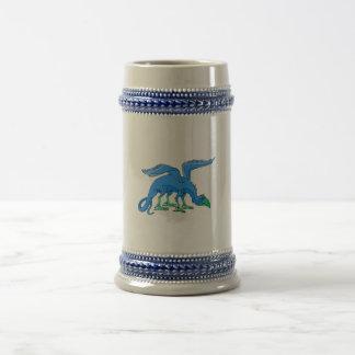 Blue Winged Bird Dragon Beer Steins