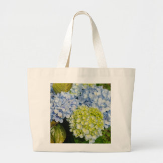 Blue Yellow Hydrangea tote bag