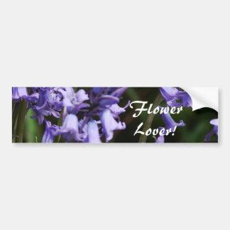 Bluebells Flowers Nature Floral Blue Purple Flower Bumper Sticker