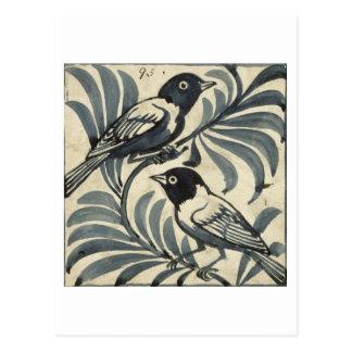 Bluebirds (w/c on paper) postcard