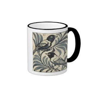 Bluebirds (w/c on paper) ringer mug
