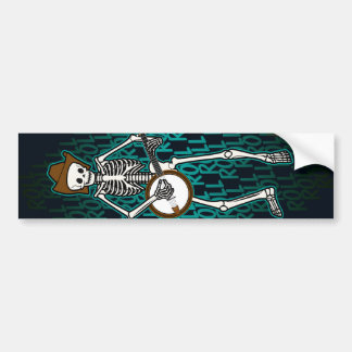 Bluegrass Banjo Skeleton Bumper Sticker