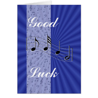 BlueMusicnote strip-customize any occasion Greeting Card