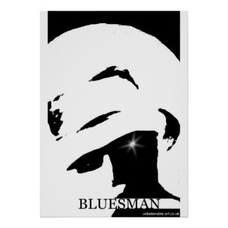 Bluesman, Musicman, Music Poster