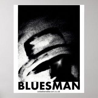 Bluesman, Musicman, Musician, Blues Poster