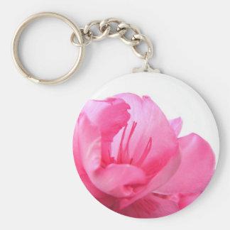Blushing Pink Basic Round Button Key Ring