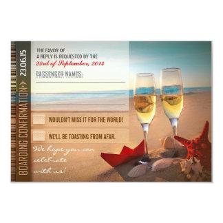 boarding confirmation wedding RSVP cards - tickets 9 Cm X 13 Cm Invitation Card