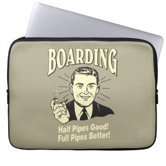 Boarding:Half Pipe's Good Full Better Laptop Computer Sleeves