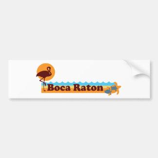 Boca Raton - Beach Design. Bumper Sticker