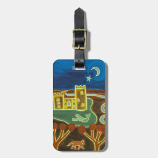 Bodiam Castle by Moonlight 2010 Travel Bag Tag