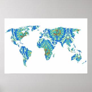Bohemian Patterned World Map | Traveler | Poster