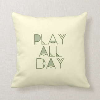 Bohemian & Tribal Play All Day Typography | Kids Throw Cushions