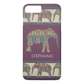 BOHO Chic Bohemian Trendy Kashmir Paisley Elephant iPhone 7 Plus Case