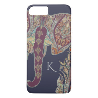 BOHO Chic Tribal Kashmir Paisley Pattern Elephant iPhone 7 Plus Case