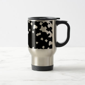 Bold Abstracts Black/White Stainless Steel Travel Mug