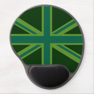 Bold Forest Green Union Jack Gel Mouse Pad