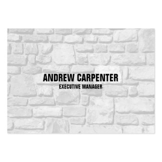 Bold Text Wall Stones Unique Modern Professional Pack Of Chubby Business Cards