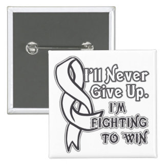 Bone Cancer I'll Never Give Up 15 Cm Square Badge