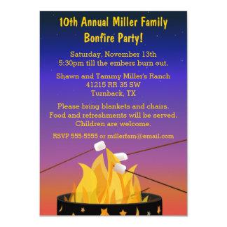 Bonfire Outdoor Gathering 11 Cm X 16 Cm Invitation Card
