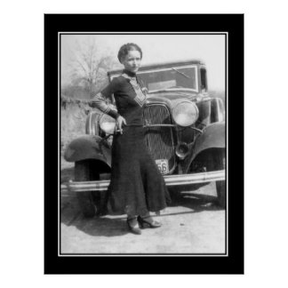 Bonnie Parker Vintage Photo Poster