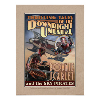 "Bonnie Scarlet & the Sky Pirates Poster (18x24"")"