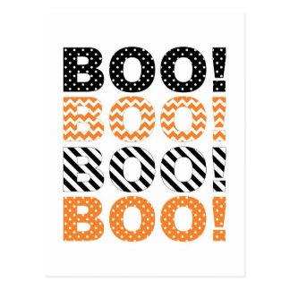 Boo! Halloween Card Postcard