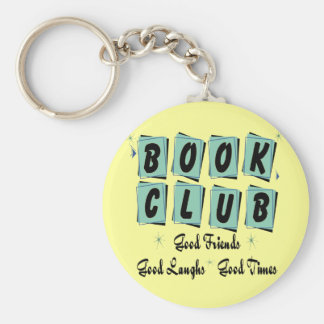 Book Club Retro - Good Friends, Times and Laughs Basic Round Button Key Ring