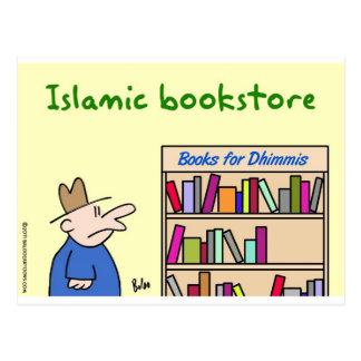 books for dhimmis islamic bookstore postcard