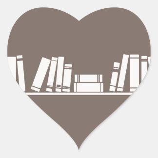 Books lovers! heart sticker