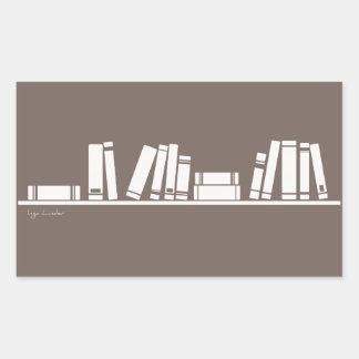 Books lovers! rectangular sticker