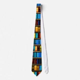 Books On Shelf For The Book Lover Neck Tie