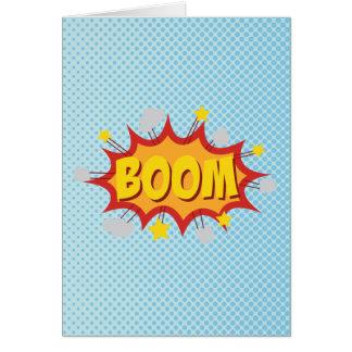 BOOM comic book sound effect Note Card