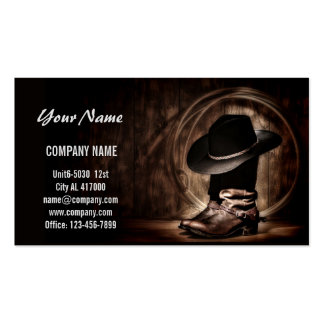Boots and Cowboy Hat Pack Of Standard Business Cards