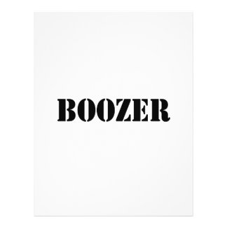 Boozer Black 21.5 Cm X 28 Cm Flyer