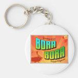 BORA BORA BASIC ROUND BUTTON KEY RING