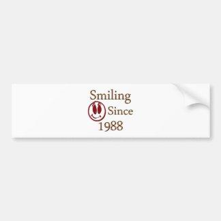 Born in 1988 bumper sticker